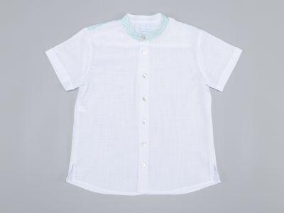 Camisa blanca cuello maho